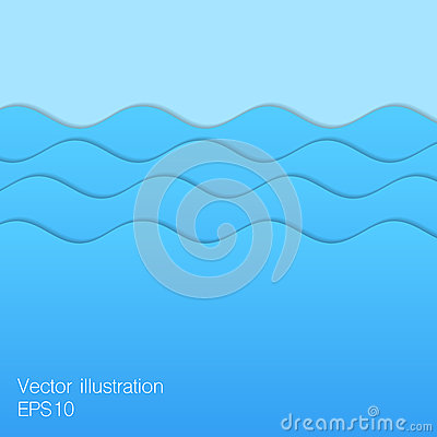 Free Paper Blue Waves. Stock Image - 61550701