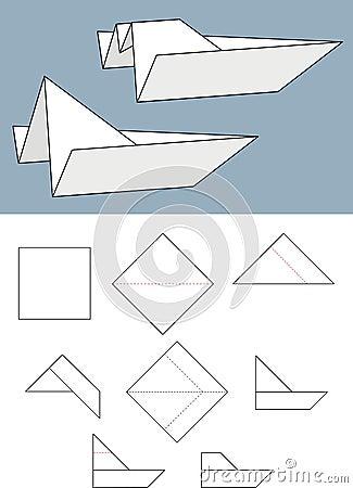 Paper boat - Origami.