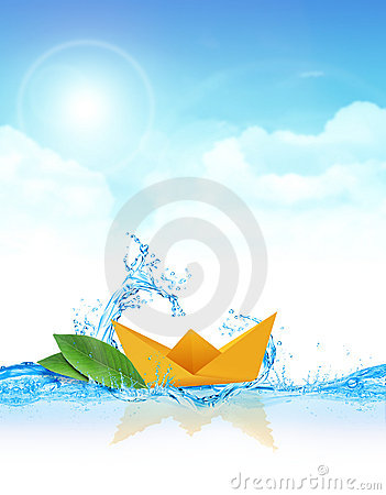 Paper Boat in Water