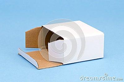 Paper box on azure background
