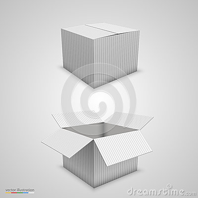 Paper Box Open And Closed Stock Vector - Image: 50130137