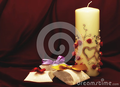 Paper boxes and candle