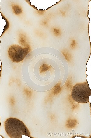 Paper with burned edges