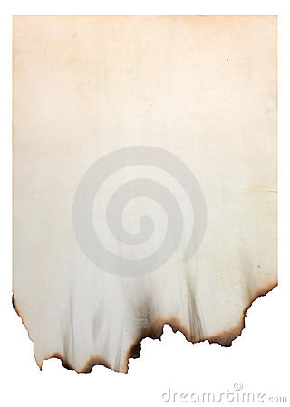 Paper with burnt edges