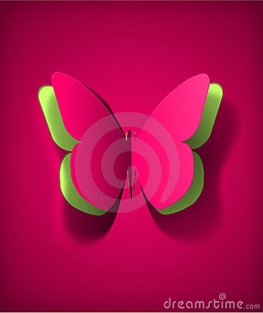 Free Paper Butterfly Stock Image - 23825441