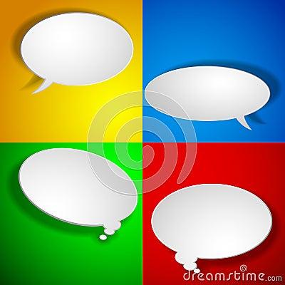 Paper chat elements