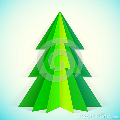 Paper Christmas Tree Royalty Free Stock Photos Image