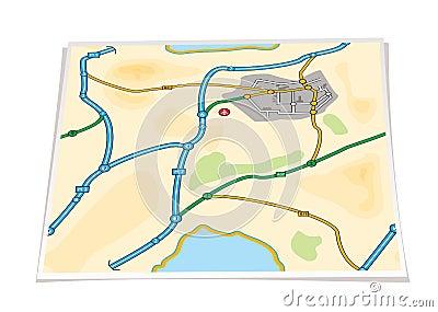 Paper city map