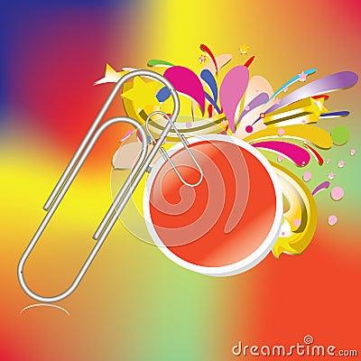 Paper clip with bubble business stick