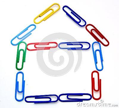 Paper clip house