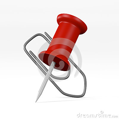 Paper clip and push pin