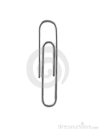 Free Paper Clip With Path Stock Image - 15660981