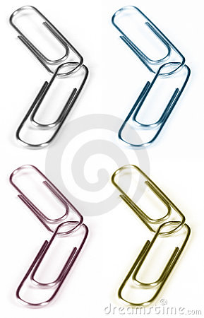 Free Paper Clips Royalty Free Stock Photography - 291657