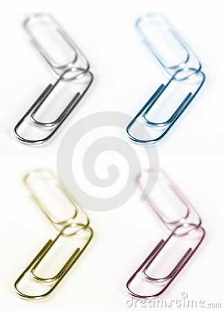 Free Paper Clips Royalty Free Stock Photos - 291658
