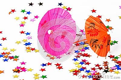 Paper cocktails parasols
