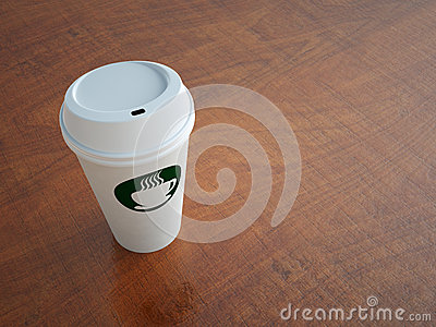Paper Coffee Cup on Table
