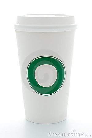 Free Paper Coffee Cup With Plastic Top Royalty Free Stock Image - 14822726