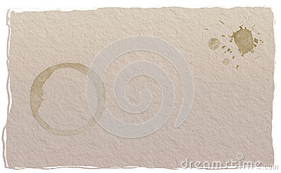 Paper coffee stain