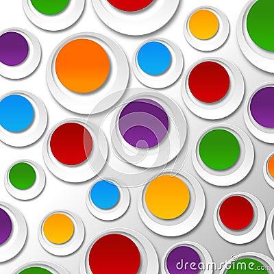 Paper color bubbles