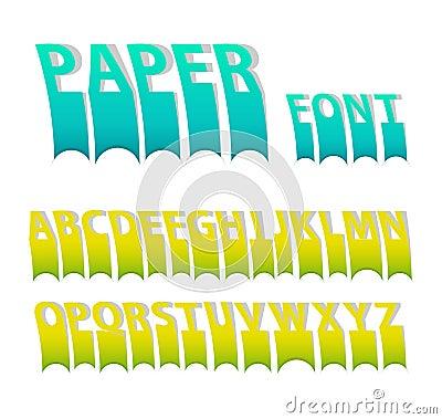 Paper colorful attach creative font.