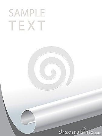 Paper corner bended