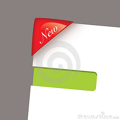 Paper corner slot green