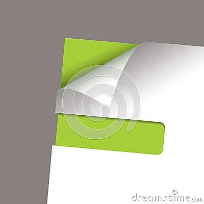 Paper corner slot green peel