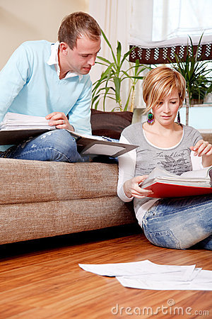 Free Paper Couple Finance Family Stock Photography - 11724352