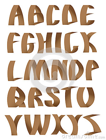Paper crafting alphabets fonts