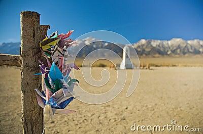 Paper Cranes at Manzanar