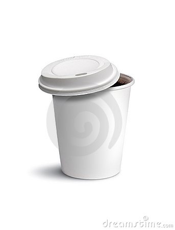 Paper cup coffee isolated