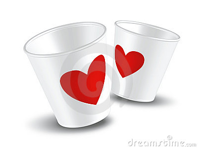 Paper cup Love