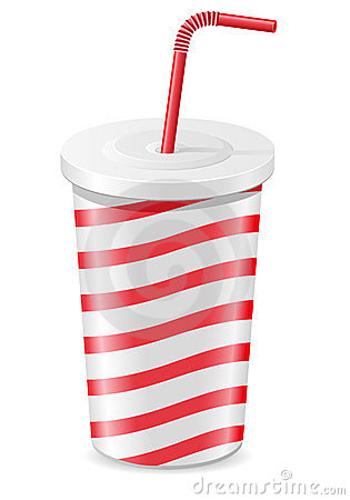 Paper cup with soda vector illustration