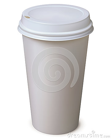 Paper Cup. Vector illustration