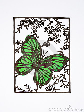 Paper-cut of butterfly