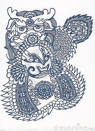 Paper-cut of chinese traditional pattern
