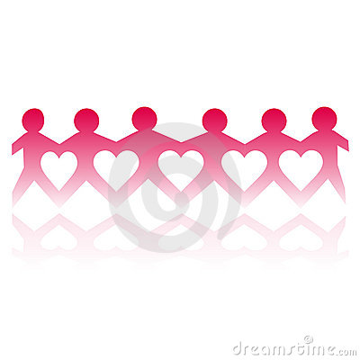 Free Paper Cut Love People Royalty Free Stock Photography - 7410827