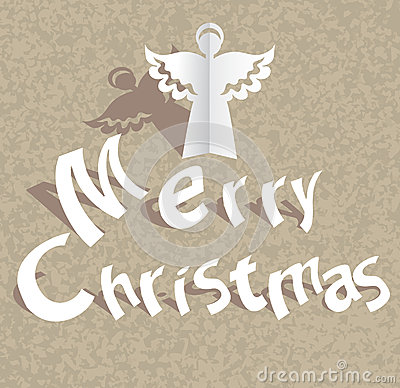 Free Paper Cut Merry Christmas Background Stock Photography - 27389372