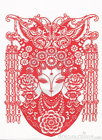 Free Paper-cut Of Chinese Traditional Pattern Stock Images - 7091394