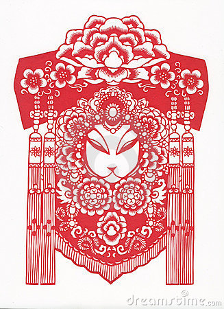 Free Paper-cut Of Chinese Traditional Pattern Royalty Free Stock Photography - 8671877