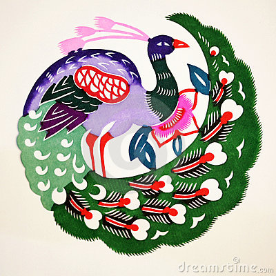 Free Paper-cut Of Peacock Royalty Free Stock Image - 22841976
