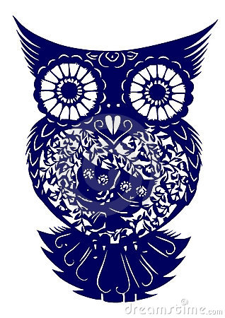 Paper-cut Of  Owl Royalty Free Stock Photography - Image: 9371617