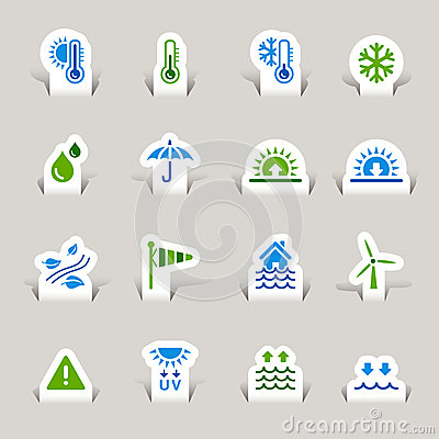 Paper Cut - Weather icons