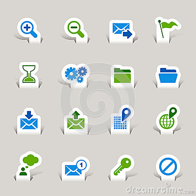 Free Paper Cut - Website And Internet Icons Royalty Free Stock Photos - 27426818