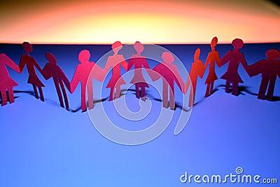 Paper cutout couples