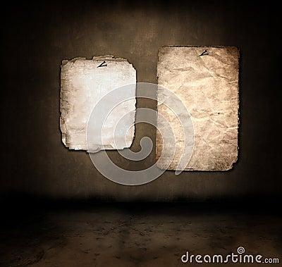 Paper in a dark room