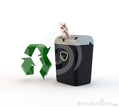 Paper destoyer and recycling