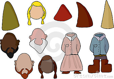 Paper Doll Gnome Set