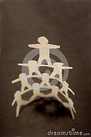 Paper doll pyramid