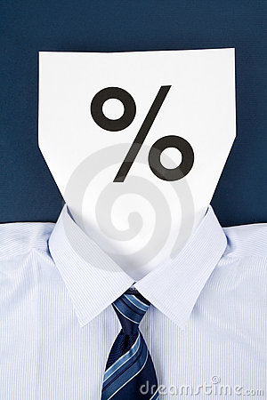 Paper Face and Percentage Sign
